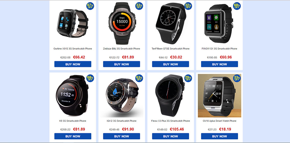 Smartwatch offers