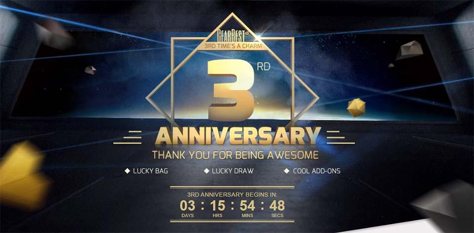 3rd anniversary gearbest